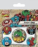 Marvel Comics Spilla Pin Badges 5 Pack Hulk Pyramid International - Pyramid International - amazon.it