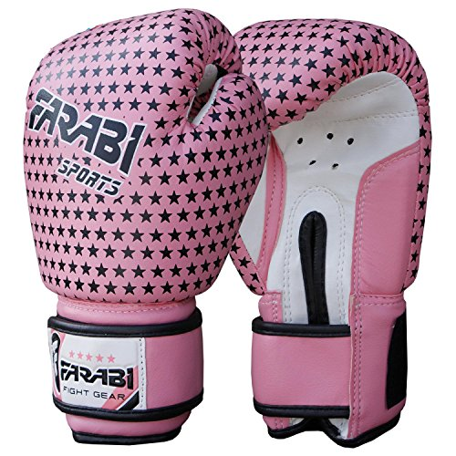 Kinder-Boxhandschuhe, MMA, Muay Thai Junior Boxsack Fäustlinge Rosa 4 Oz von