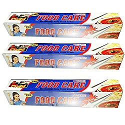 Food Care Non-Stick Ultra-Thick Heavy Duty Household Aluminium foil roll, Food Safe Cling Wrap - Professional Quality Best Kitchen Wraps & Baking need Aluminium foil 21 MTR
