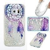 Lomogo Samsung Galaxy S6 Edge/G925 Hülle Silikon, Glitzer Flüssig Schutzhülle Stoßfest Kratzfest Handyhülle Case für Samsung Galaxy S6Edge - YIBO34467#2