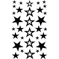 Voorkoms Stars Temporary Body Tattoo Waterproof For Girls Men Women Beautiful & Popular Water Transfer Size 11CM x 6CM…