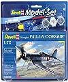 Revell Modellbausatz Flugzeug 1:72 - Vought F4U-1D CORSAIR im Maßstab 1:72, Level 3, originalgetreue Nachbildung mit vielen Details, , Model Set mit Basiszubehör, 63983 von Revell