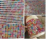 Set aus 3500 Stück Acrylsteine Set Paket selbstklebend bunt basteln Gltzersteine Steinchen bunt Schmucksteine Bastelset Set Basteln Kinder Strass Steine drei Größen 5mm 4mm 3mm zum Verzieren Acryl Schmucksteine Verschönern Deko von CRYSTAL KING