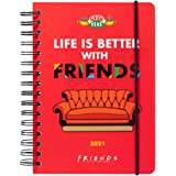 Grupo Erik - Agenda anual 2021 semana vista Friends, A5