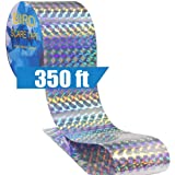 Goodern Bird Repellent Deterrent Reflective Scare Tape Double Sided Bird Repellent Tape for Keeping Away Unwanted Birds for G