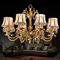 FY Lampadario di europeo lampadario in rame soggiorno camera da