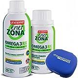 Enerzona Enervit Omega 3 RX, 240cpr + 48cpr + Portapillole Vitaminstore ● Integratore Alimentare a base di olio di pesce per il Controllo del Colesterolo e Trigliceridi ● ricco di EPA e DHA