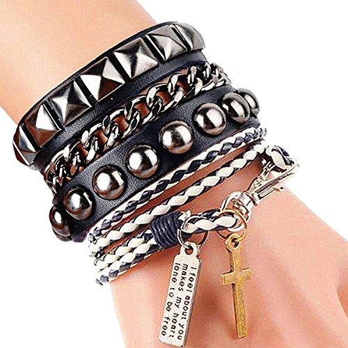 womens-mens-wrap-rivets-cadeau-de-fte-de-papa-stud-cuir-bracelet-presse-8-couleurs-noir-et-blanc