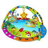 SPEED Krabbeldecke Spieldecke mit Spielbogen Erlebnisdecke Musik Babydecke für 0-12 Monate (Engel)