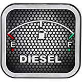 Sepia SPD 003G Universal Car Fuel Badge Sticker (Black and Grey)