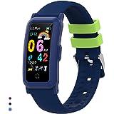 BingoFit Fitnesstracker voor kinderen, met bloeddruk, hartslagmeter en slaapmonitor, waterdicht, stappenteller, calorieëntell