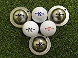 TIN CUP. GOLF BALL MARKER SYSTEM. ALPHA PLAYERS SERIES. LETTER L