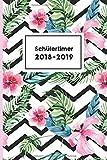 Schülertimer 2018-2019: trendiger Timer mit Palmen Motiv (Schulplaner für Teenager, Band 1)