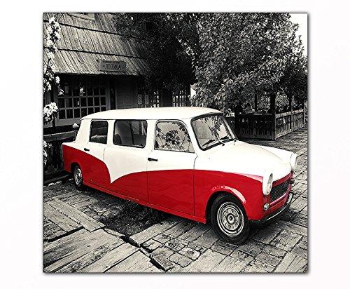 PB ART - Trabant Limousine als Kunstdruck auf Leinwand und Holzkeilrahmen - Beste Qualität, handgefertigt in Deutschland! (60x60cm)