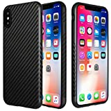 L-FADNUT Coque iphone X, Coque iPhone Motif Fibre de Carbon Ultramince Silicone en...