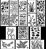 Acid Tactical 16 Modelle - Camouflage Vinyl Airbrush Sprühfarbe Schablonen 35cm - ( Gras , Baumrinde , Digital, Multicam , Weizenfeld, Tigerstreifen, Gnarly Zweig, Gebrochene Erde, Eiche , Weizen, TACS )