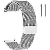 Cinturino in Metallo,Cinturino con Chiusura Magnetico,Uomo Donna Universale Cinturini di Ricambio per Orologio…