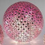 Formano Mosaikkugel mit LED-Licht, 25 cm, rosa