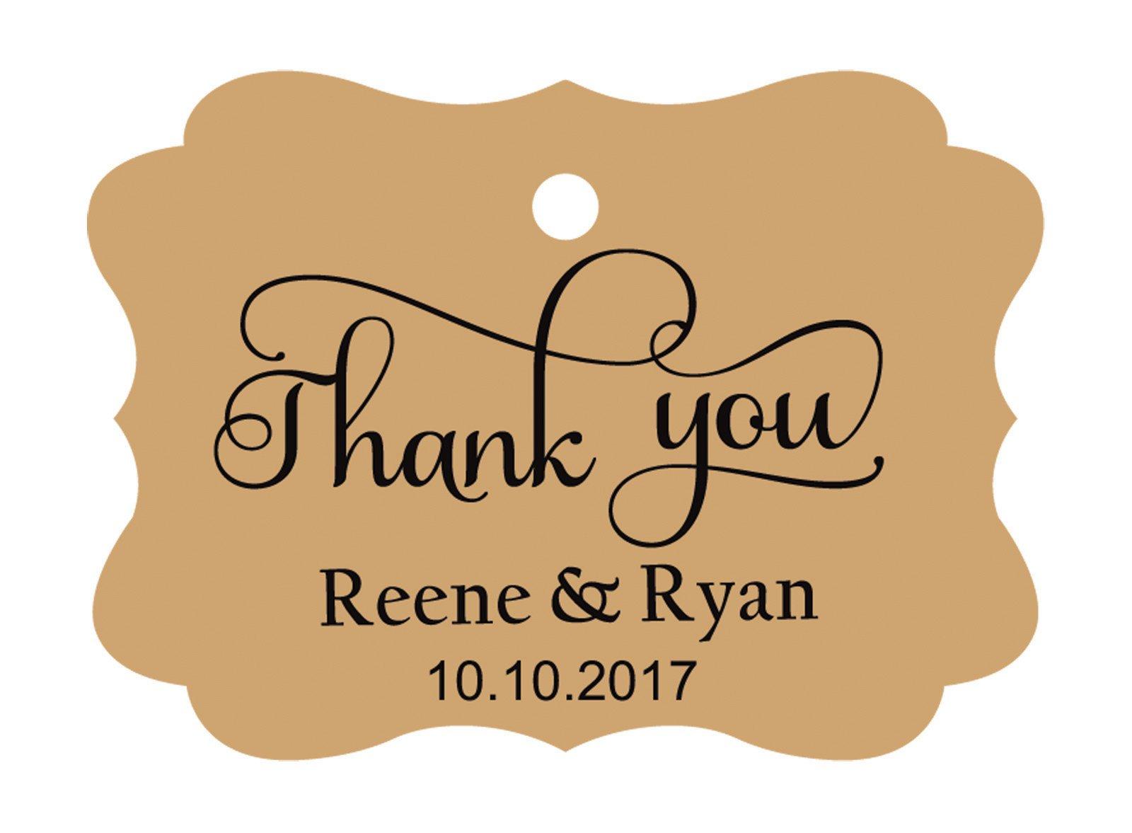 100pcs Thank You custom made cartellini personalizzato matrimonio carta regalo Tag Kraft