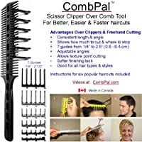 CombPal Scissor Clipper Over Comb Haircutting Tool Kit (Yellow) by CombPal