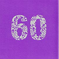 60° compleanno partito Luxury invita/biglietti di auguri, confezione da 24