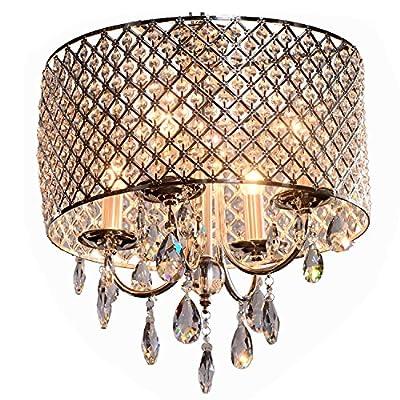 OOFAY LIGHT moderne 4 - Licht Pendelleuchten mit Kristall-Tropfen in runden von Deckenleuchte 5465 auf Lampenhans.de
