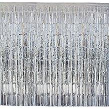(2M * 1 M) 4 darab talmi függöny glitters függöny Fringe függöny rojtok függöny fél függöny fémfólia dekorációs függönyök dekoratív fél, Hochzeitsdeko, születésnapját deco