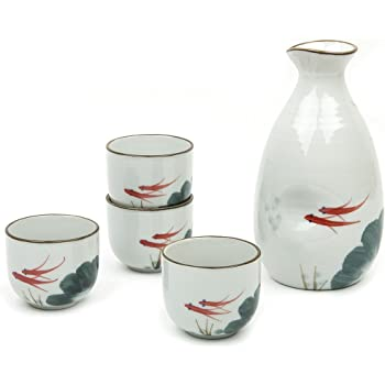 Kitchen, Dining & Bar Home & Garden 5 Piece Japanese Sake Cup Set Hand Painted Porcelain Pottery Traditional Ceramic Sophisticated Technologies