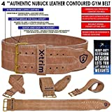 Xtrim Men's Suede Leather Professional Power Weightlifting Squat Back Support Belt