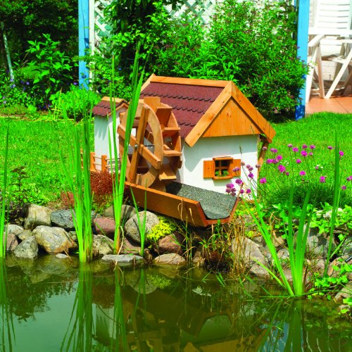 JEVER Wassermühle Gartendeko Kiefernholz Promex