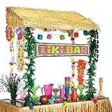 erdbeerparty Party decorazione Hawaii Tiki Bar cornice celebrazione 1pezzi, 140x 140cm, Multicolore