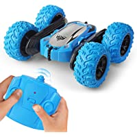SaleOn Remote Control Four-Wheel Drive Stunt Car Toys for Boys with Cool Lights 360 Degrees Rotating Double Sided car RC…