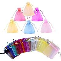 Gudotra 100pz Sacchetti Organza Portaconfetti 20 Colori Bustine Bomboniere Confetti per Matrimonio Battesimo Compleanno…