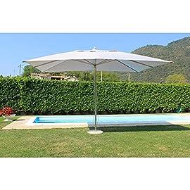 Ombrellone da Esterni con Palo Festnight Ombrellone Giardino Parasole in Acciaio 250x250 cm Verde