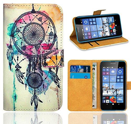 Microsoft Lumia 640 / 640 Dual SIM Handy Tasche, FoneExpert® Wallet Case Flip Cover Hüllen Etui Ledertasche Lederhülle Premium Schutzhülle für Microsoft Lumia 640 / 640 Dual SIM (Pattern 9)