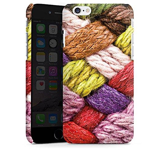 Apple iPhone 6 Housse Étui Silicone Coque Protection Look laine Tricoter couleurs Cas Premium mat