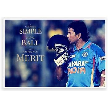 PosterGuy Sachin Tendulkar Quote Cricket World Cup Poster