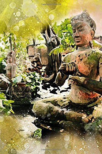 Watercolor of Buddha Statues in a Garden Journal: Take Notes, Write Down Memories in this 150 Page Lined Journal