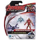 Avengers : Age of Ultron - Iron Man Mark 43 VS sous-Ultron 001 - 2 Figurines 6 cm