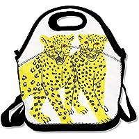 Preisvergleich für Lunch Tote Leoparden Lunch-Boxen Lunchpaket Handtasche Lebensmittel Aufbewahrung passend für Schule Reisen Arbeit Outdoor