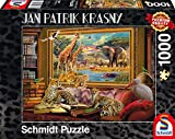 Schmidt Spiele 59335 - Jan Patrik Krasny Oder Coming to Life, Die Savanne - Zum Leben erwacht, 1.000 Teile, Klassische Puzzle