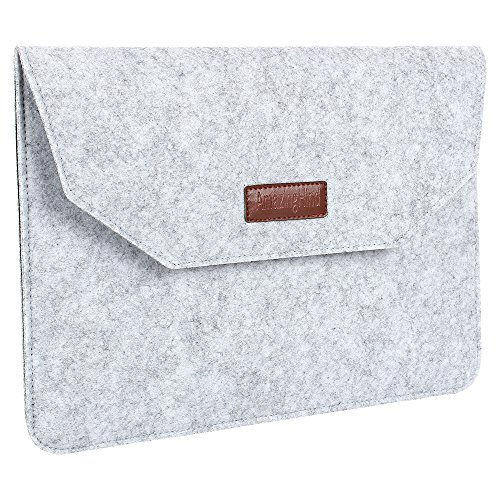AmazingHind 11.6-Inch Felt Laptop Sleeve case Cover for MacBook Air, MacBook Pro, Notebook, UltraBook (Color- Grey) - Not for Normal Laptop