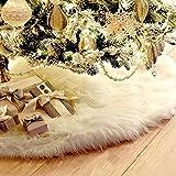 THEE Falda de Árbol de Navidad de Decoración Felpa de Papá Noel