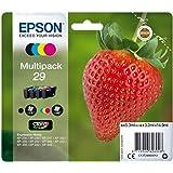 Epson 29 Serie Fragola, Cartuccia Originale Getto d'Inchiostro Claria Home, Formato Standard, Multipack 4 Colori, con Amazon