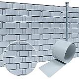 Froadp Pellicola Protettiva in PVC con Recinzione Clip di Fissaggio Doppio Recinzione da Opaca per Giardino Cortile Balcone Sguardo di Pietra, 65mx19cm