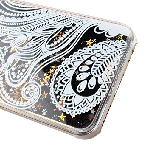 iPhone 6S Coque Silicone,iPhone 6S Coque Bling,iPhone 6S Coque en Silicone Placage Bling Diamant Coque Clair,EMAXELERS iPhone 6 / 6S Silicone Case Silver Slim Soft Gel Cover with Diamond,iPhone 6S Bli D Black Liquid 8