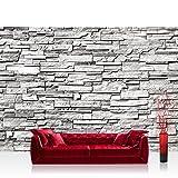 Fototapete 400x280 cm - ALLE TOPSELLER auf einen Blick ! Vlies PREMIUM PLUS - NOBLE STONE WALL - GREY - Steintapete Wandbild Steinwand Steintapete Asia Stone Asien - no. 132