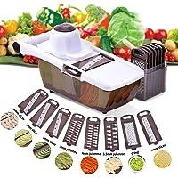 Comaie Mandoline Trancheuse Cuisine Multifonction 8 en 1 Professionnelle Couper les Legumes Fruits Interchangeable…