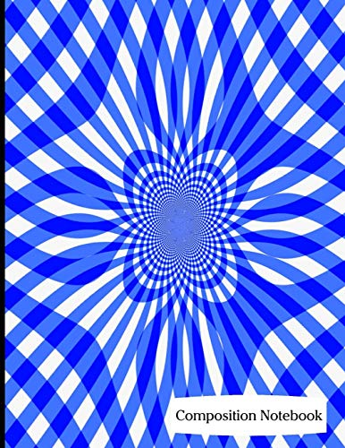 Composition Notebook: Blue Swirl Pattern Composition Notebook - 8.5
