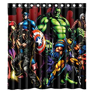 Custom filme marvel comic superheld the avengers wasserdicht badezimmer duschvorhang polyester - Badezimmer comic ...